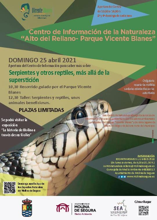 Jornada de serpientes y otros reptiles, con el Ayto. de Molina de Segura