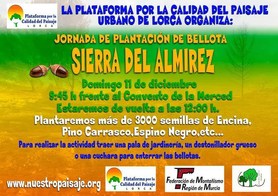 Siembra en la Sierra de Almirez, con la Plataforma por la Calidad del Paisaje de Lorca