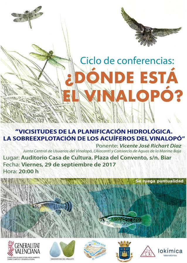 Charla sobre la sobreexplotación de acuíferos  del Vinalopó, con el Observatorio del VInalopó