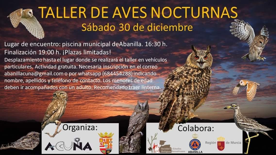 Taller de Aves Nocturnas, con Acuna
