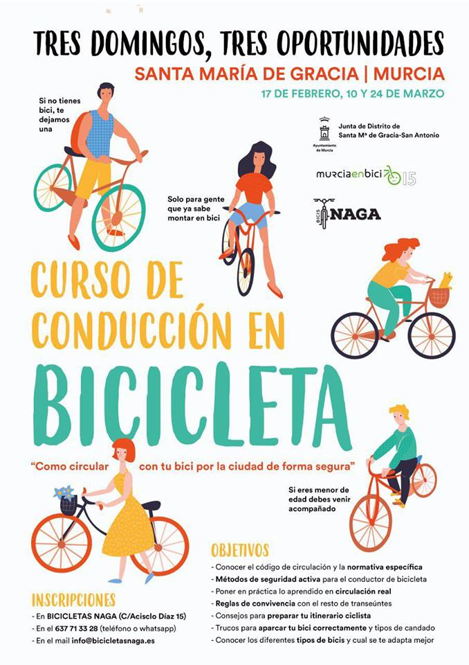 Curso de Conducción de Bici, con Murcia en Bici