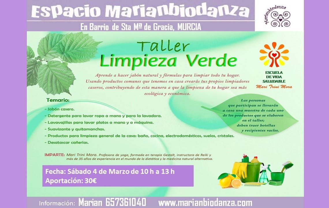 Taller de limpieza verde, con Marianbiodanza