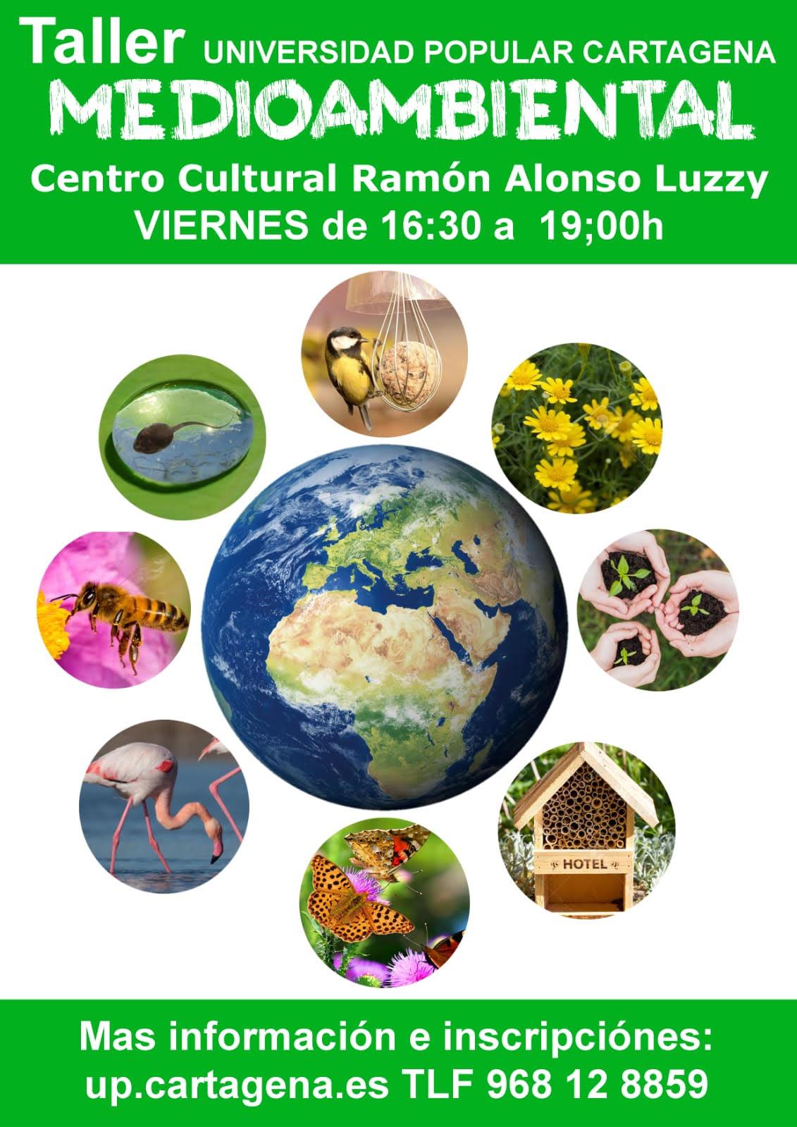 Taller Medioambiental de Primavera, con la Universidad Popular de Cartagena
