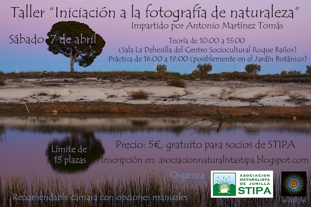 Taller de Iniciación a la fotografía de naturaleza, con STIPA