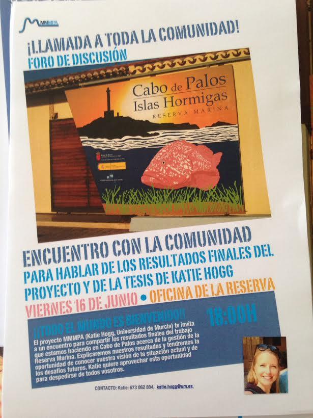 Tesis y proyecto sobre la RM Cabo de Palos-Islas Hormigas, con MMMPA