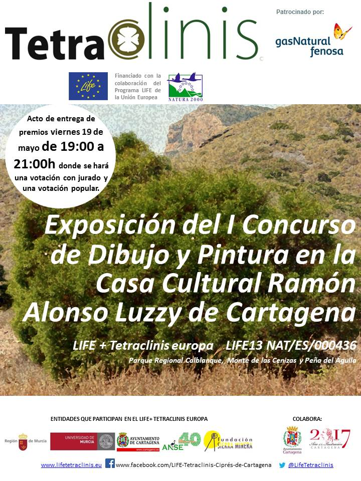 Expo  Concurso Dibujo y Pintura Tetraclinis, con LIFE Tetraclinis Europa