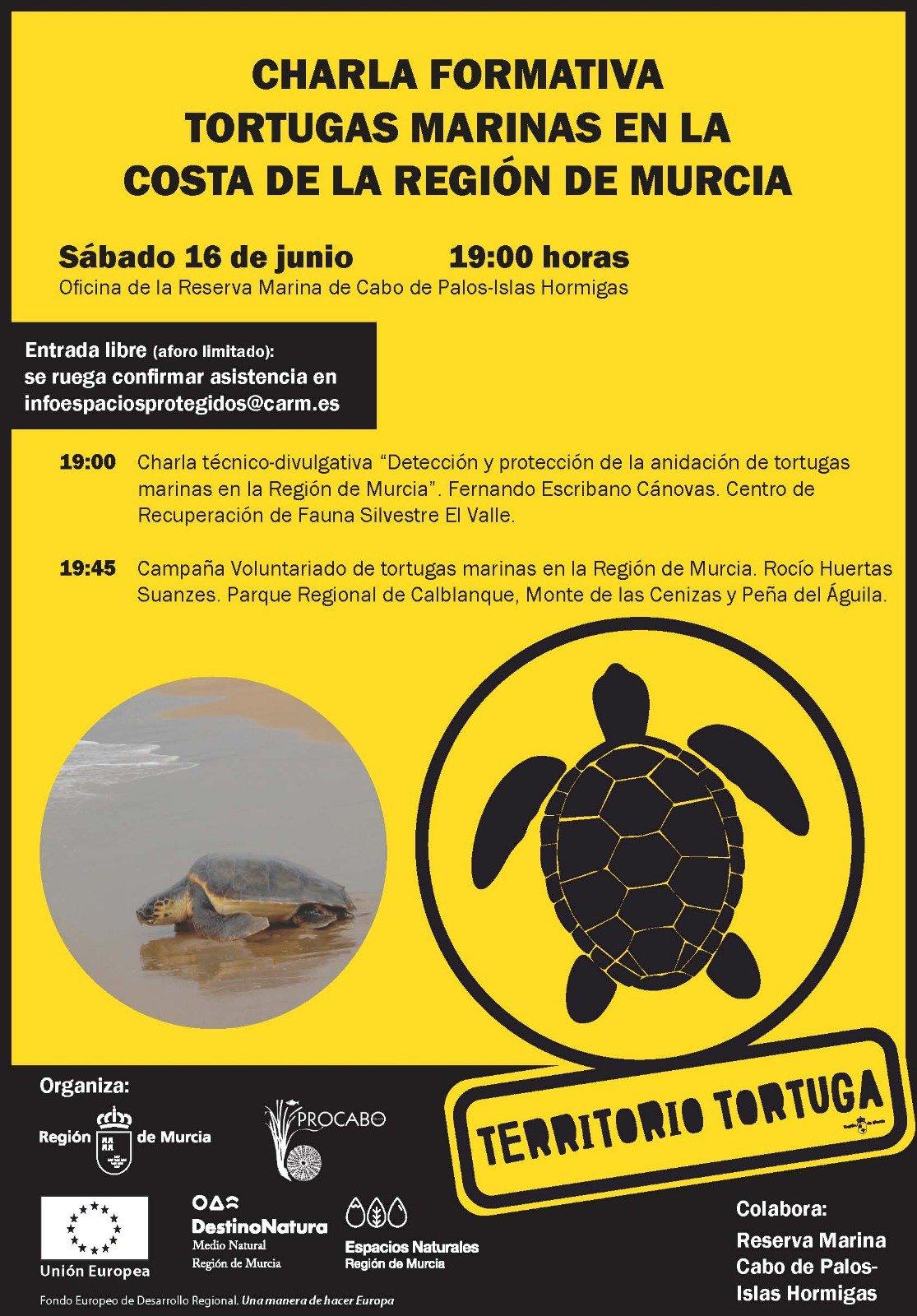 Charla sobre la tortugas marinas y sus posibles anidaciones, con al CARM