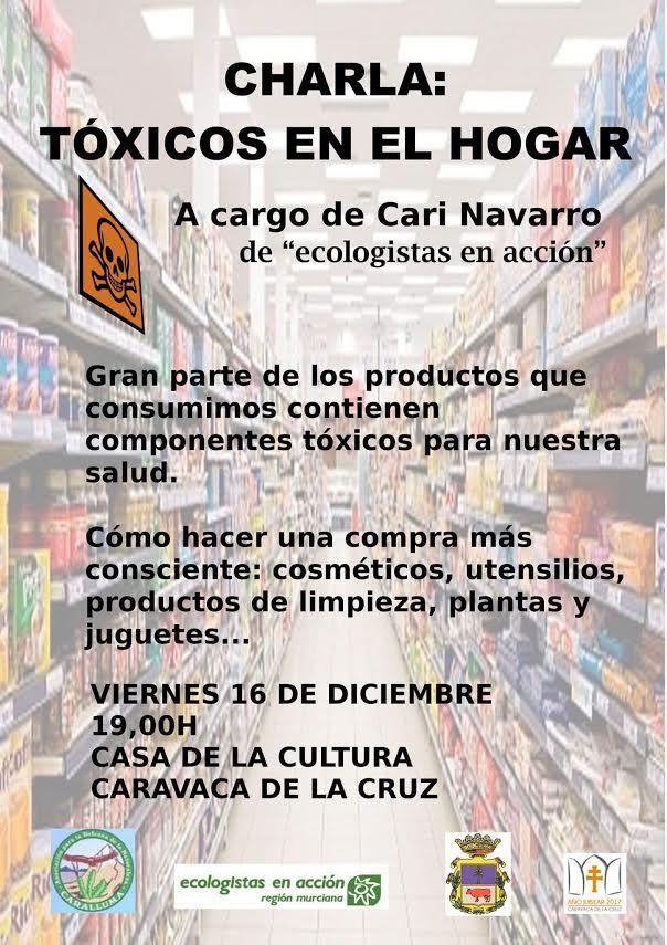 Charla sobre tóxicos en el hogar, con Ecologistas en Acción Región murciana