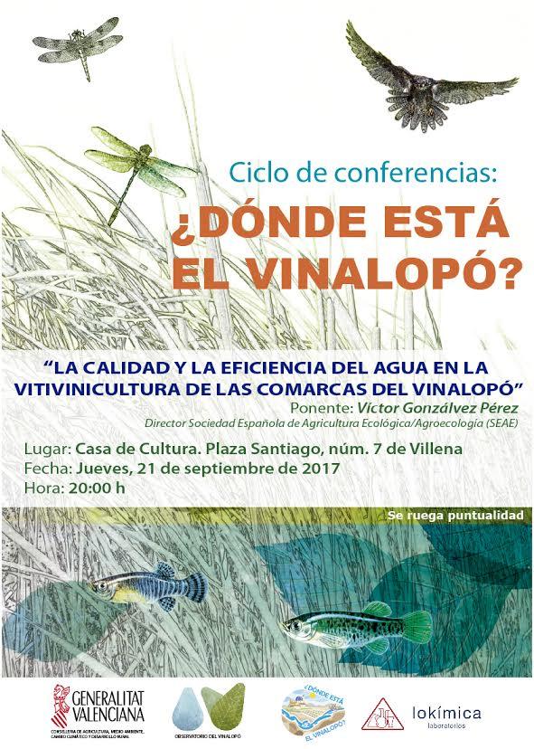 Uso sostenible del agua de regadío en la vitivinicultura, con Observatorio del Vinalopó