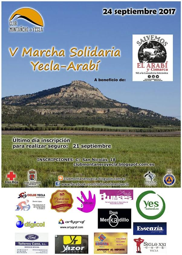 V Marcha solidaria Yecla - Arabí, con el Club Montanero de Yecla