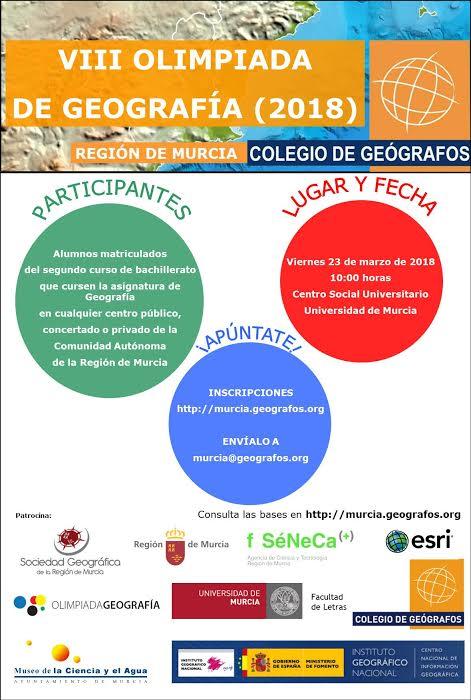 VIII Olimpiada de Geografía de la Región de Murcia