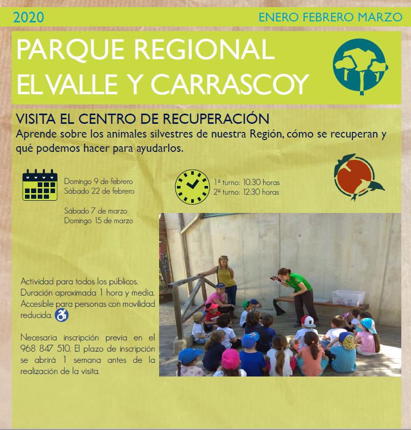 Visita al Centro de Recuperación de Fauna Silvestre de El Valle, con la CARM