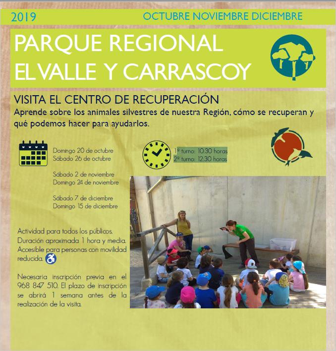 Visita al Centro de Recuperación de Fauna Salvaje de El Valle, con la CARM