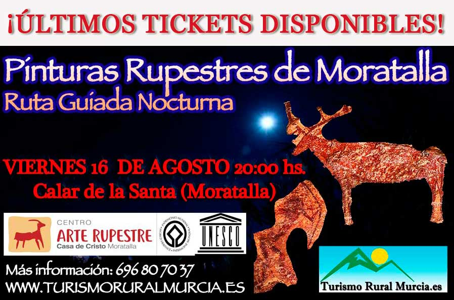 Visita nocturna a las pinturas rupestres de Moratalla, Ayto. Moratalla
