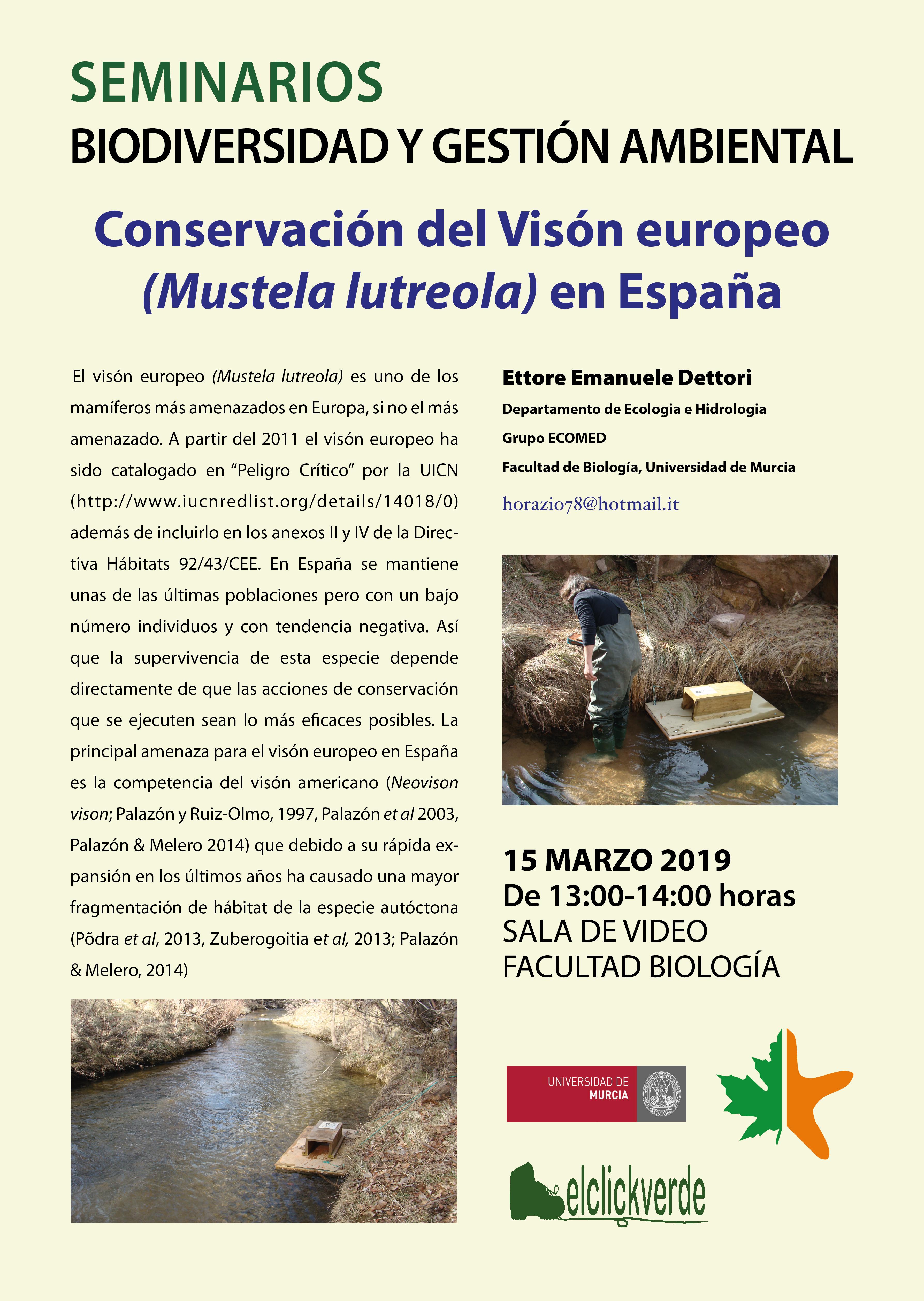 Conservación del visón europeo en España, con la UMU