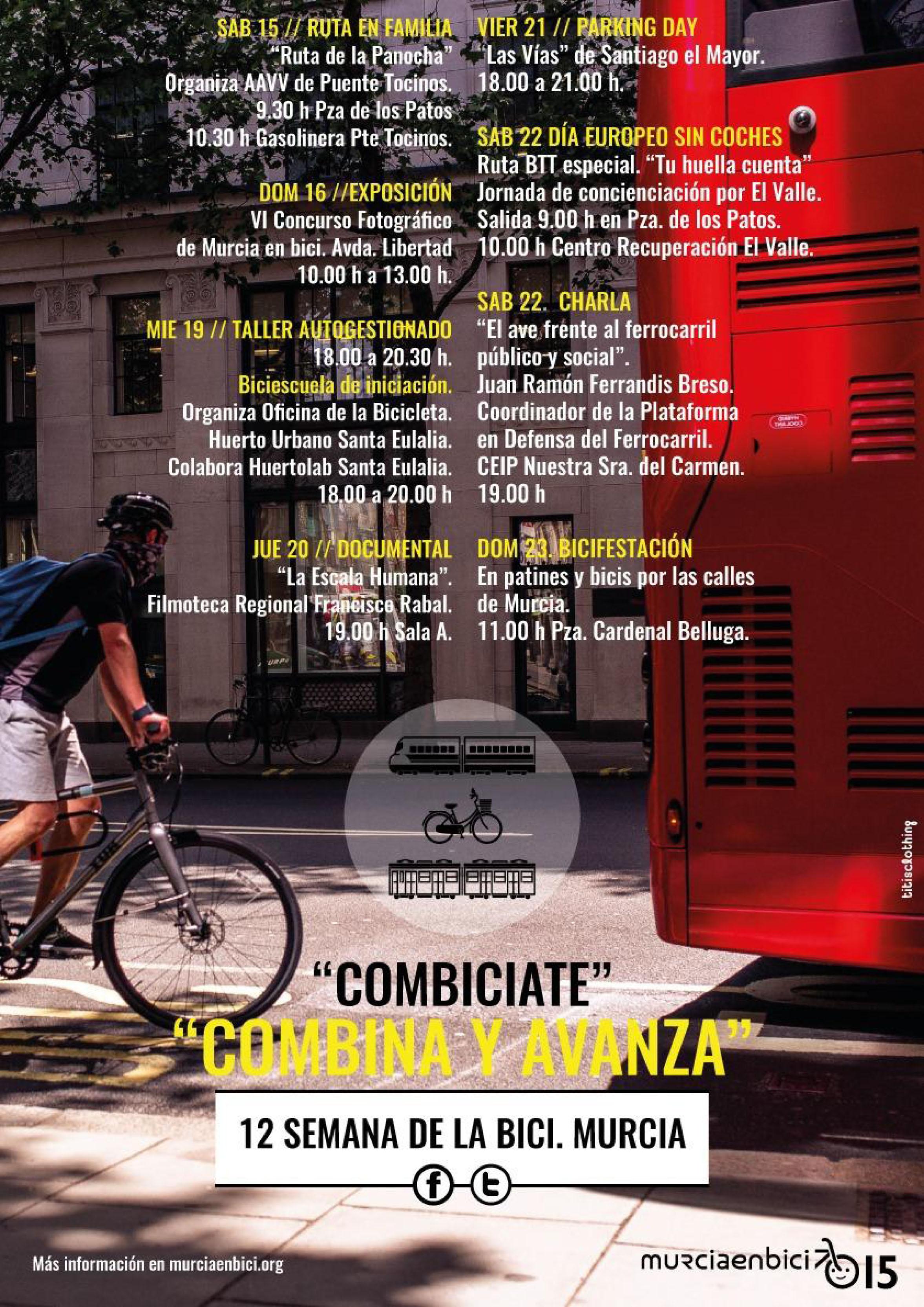Programación de la XII Semana de la Bici de Murcia en Bici