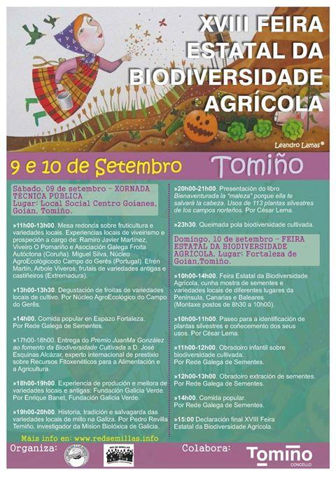 XVIII Feria Estatal de la Biodiversidad Agrícola, con Rede Galega de Sementes