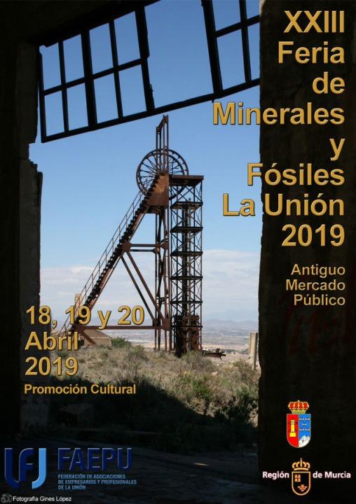 Cartel de la XXIII Feria de Minerales y Fósiles de La Unión