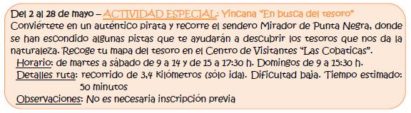 Yincana 'En busca del tesoro' en Calblanque, con la CARM