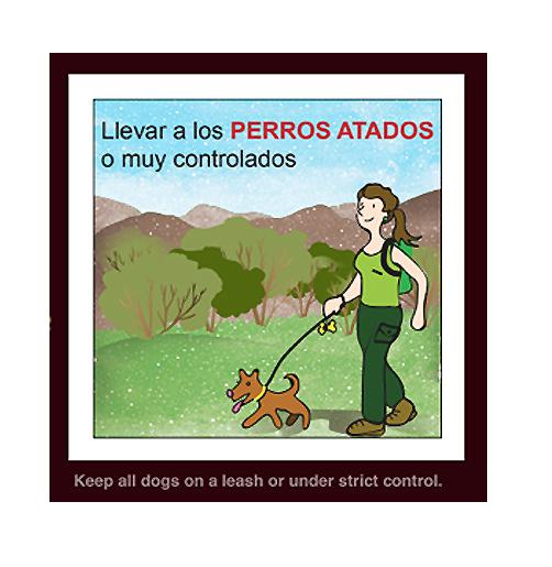 """""""Llevar a los perros atados o muy controlados"""" (Recomendación 2 de FOP)"""