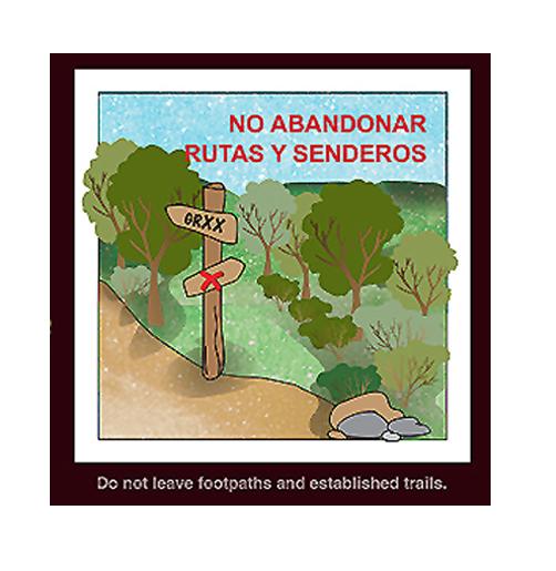 """""""No abandonar rutas y senderos"""" (Recomendación 3 de FOP)"""