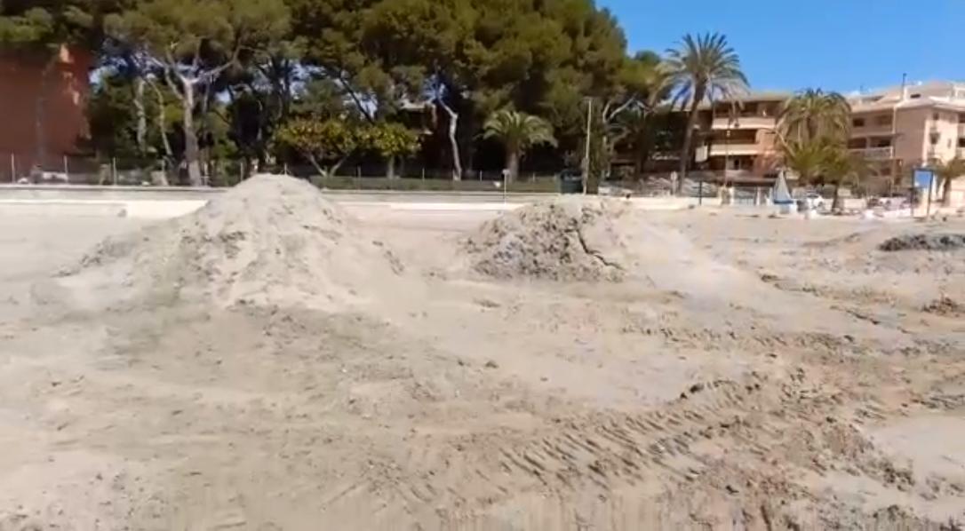 Playa Castillicos en Santiago de la Ribera. Imagen: Por un Mar Vivo