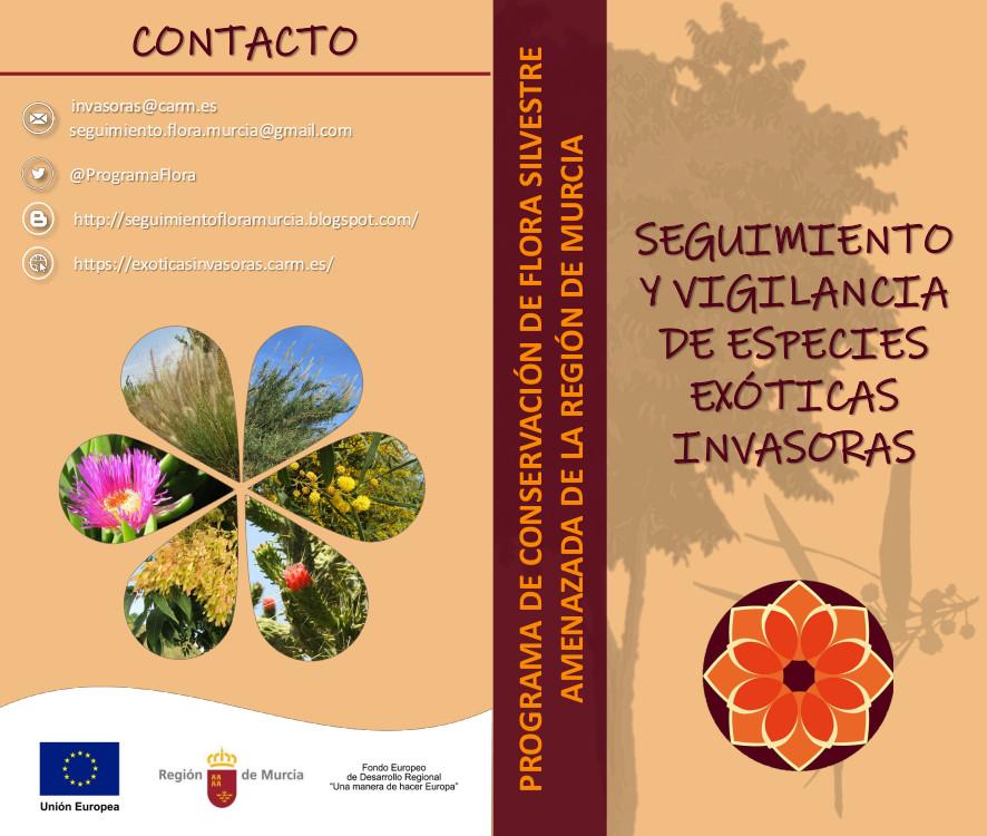 Folleto técnico 'Seguimiento y vigilancia de especies exóticas invasoras', de la CARM