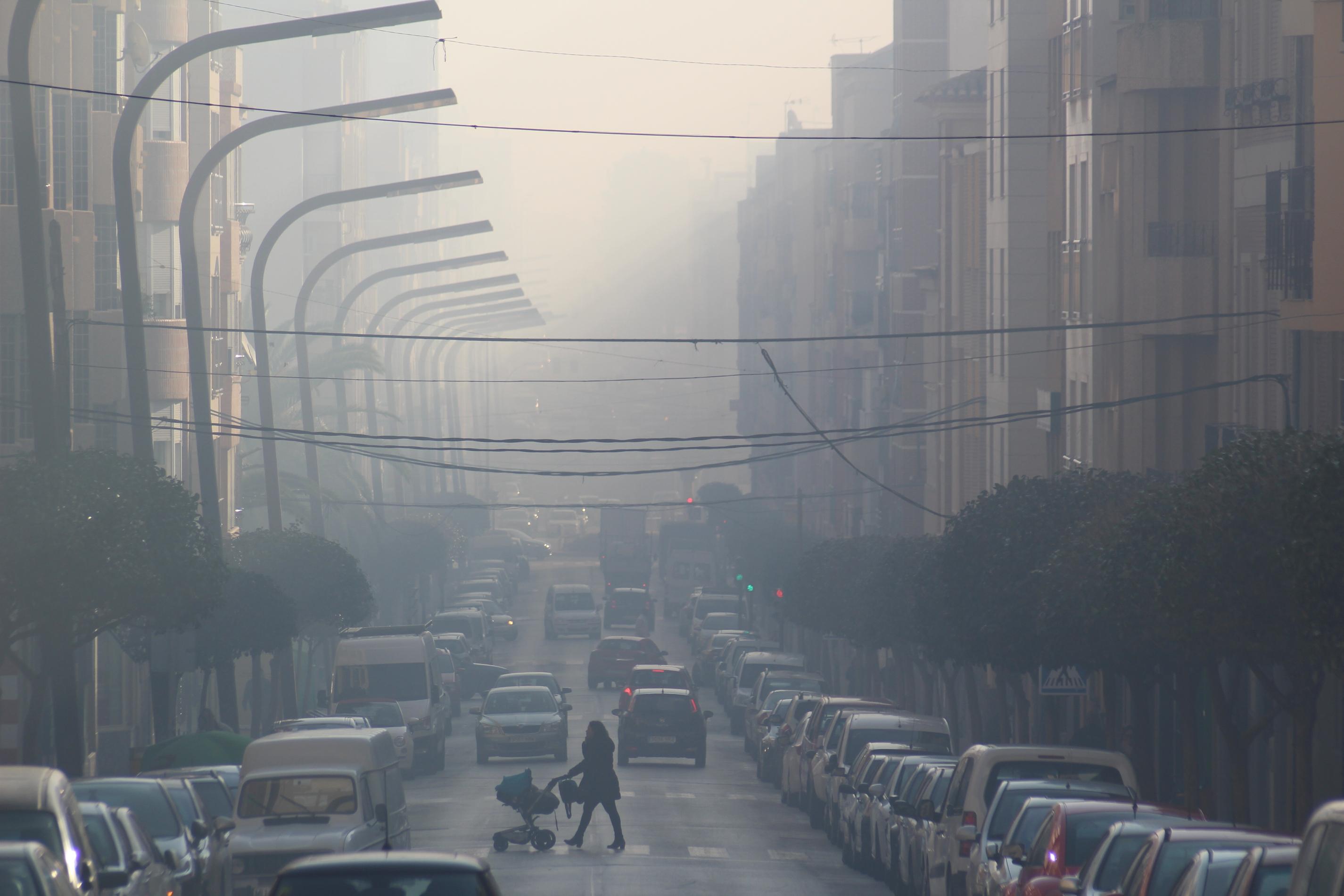 Un episodio de contaminación por quemas en Cieza en 2016. Imagen: EEA