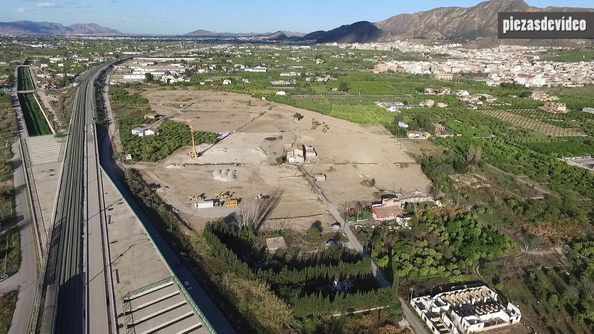 Vista aérea del trazado de la autovía del Reguerón. Imagen: Huerta Viva