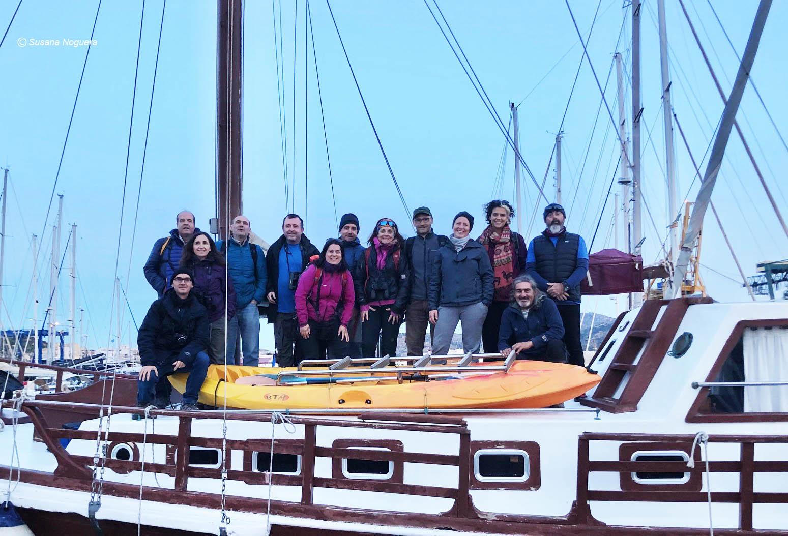 Los pajareros de Birdent Murcia, de expedición marina. Imagen: Susana Noguera