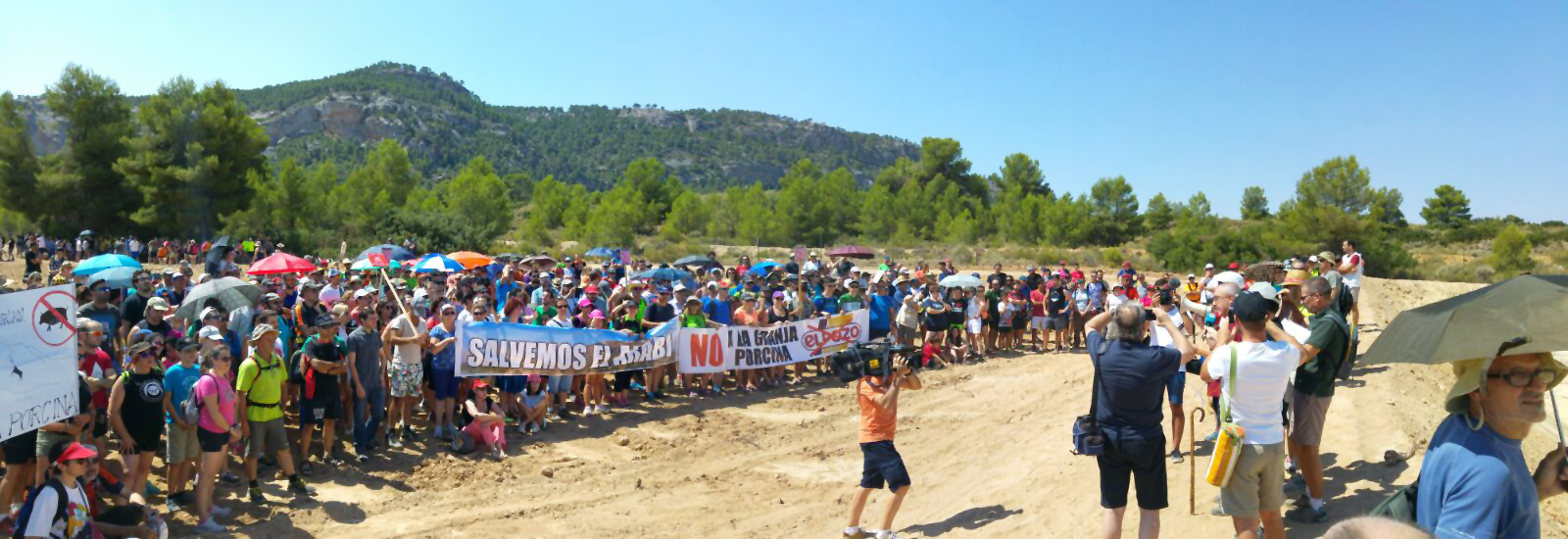 Imagen de la concentración de la mañana, en Pozo Buitrera