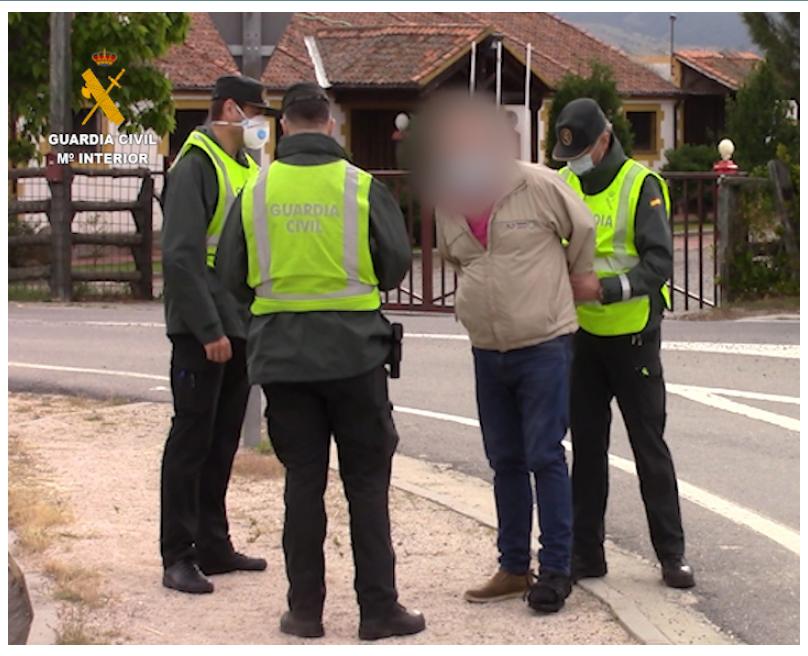 Tras casi un año de investigación, el Seprona de la Guardia Civil de Segovia ha puesto a disposición judicial al presunto autor. Imagen: GC