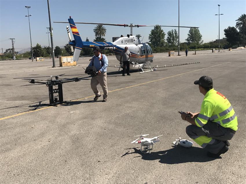 Los drones se usarán para alcanzar zonas de difícil acceso