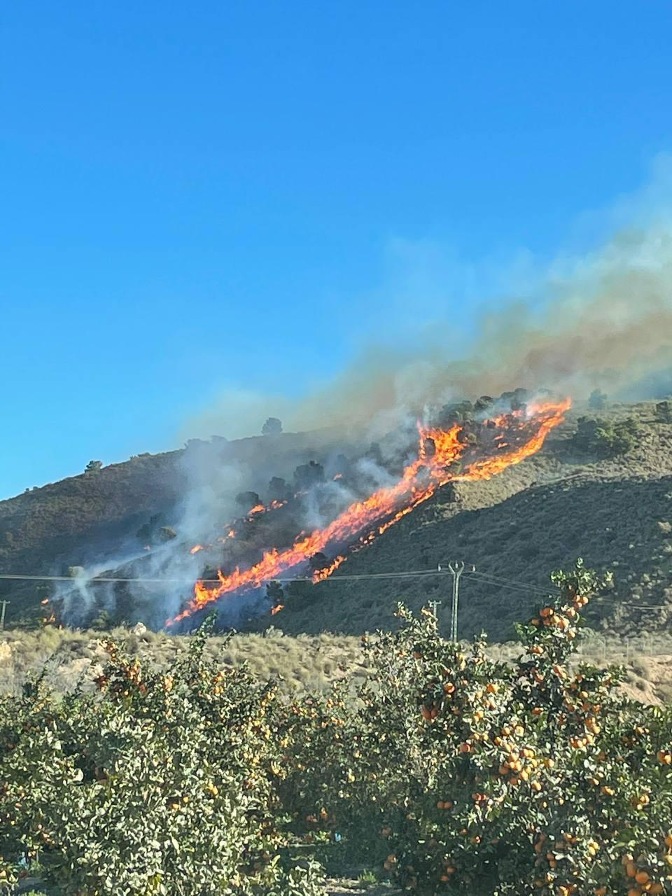 Imagen cedida por la Unidad de Defensa contra los Incendios Forestales de la Dirección General del Medio Natural