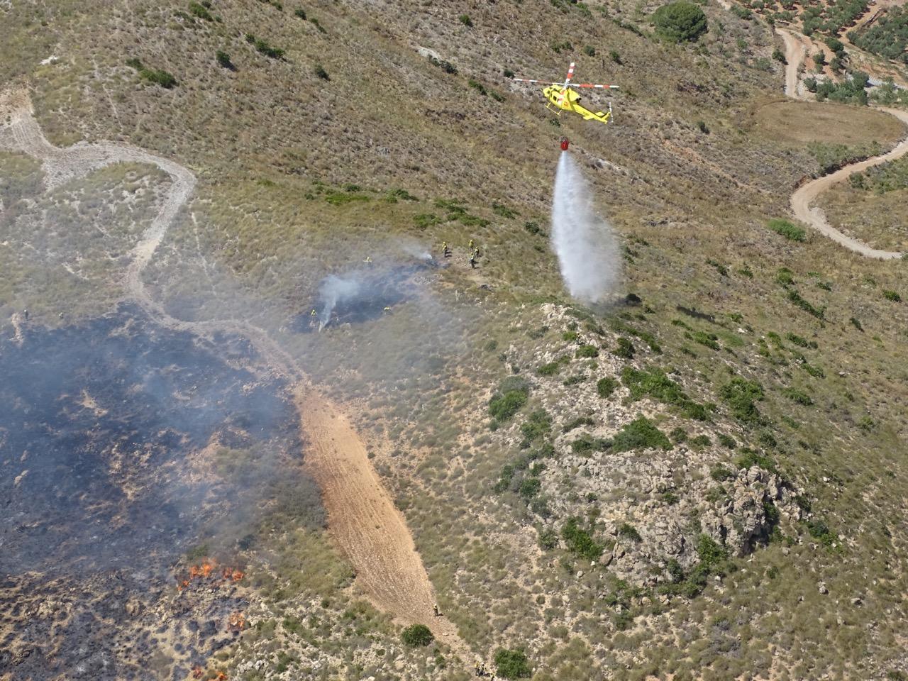 Imágenes facilitadas por la Dirección General del Medio Natural y tomadas desde helicóptero de la DGSCE