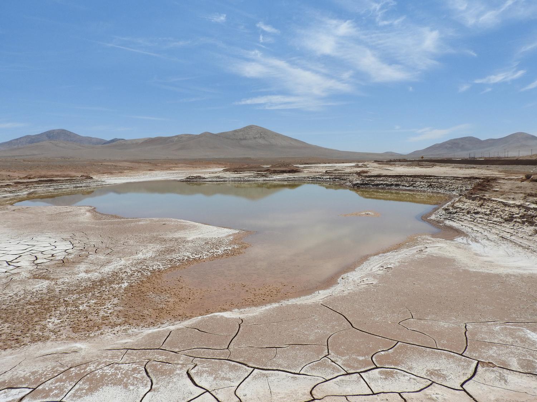 Lagos formados en el corazón hiperárido del desierto de Atacama. Imagen: Carlos González Silva / CSIC