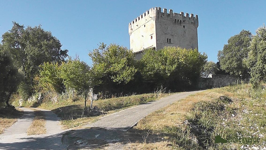 Foto: torre en Quintana de Valdivielso, para controlar el paso de mercancías por el camino medieval
