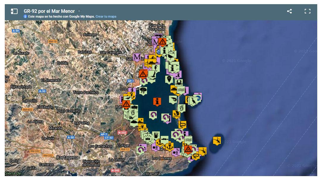 Imagen extraída del portal Canal Mar Menor de la CARM, que contiene una gran información sobre la laguna costera
