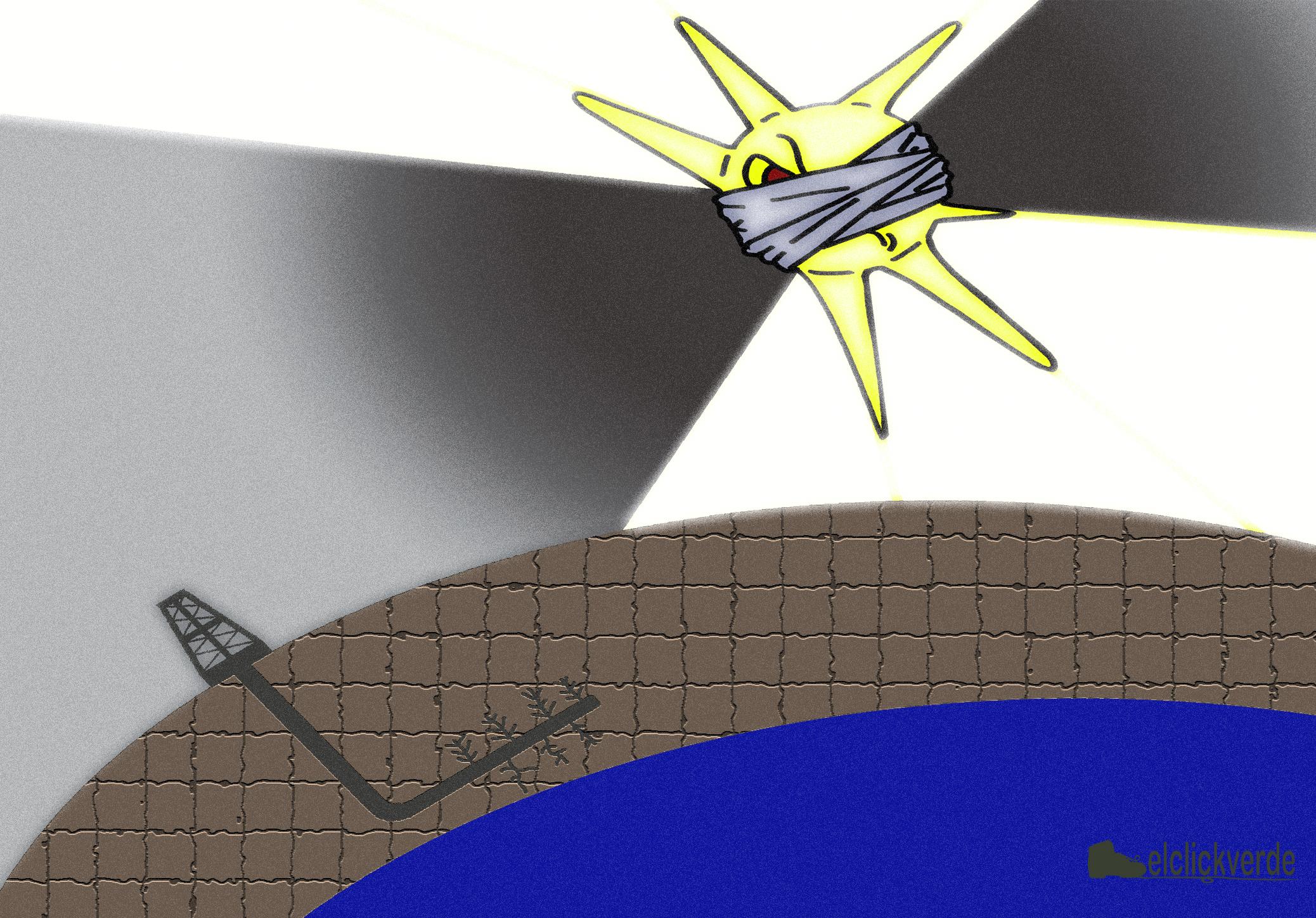 El sol, confiscado, y el fracking en la sombra...