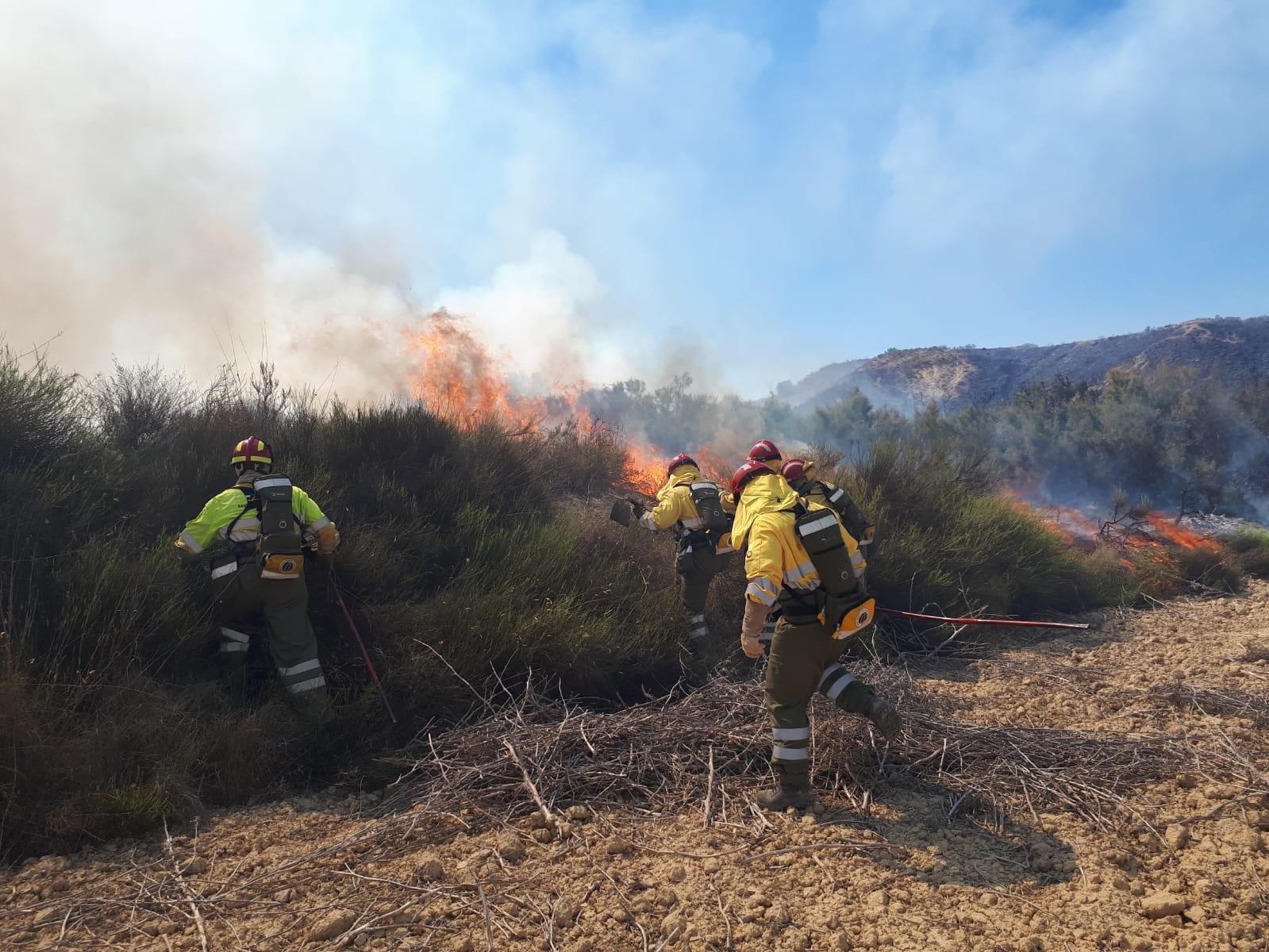 Incendio en Rambla Salada de Murcia. Imagen: 112