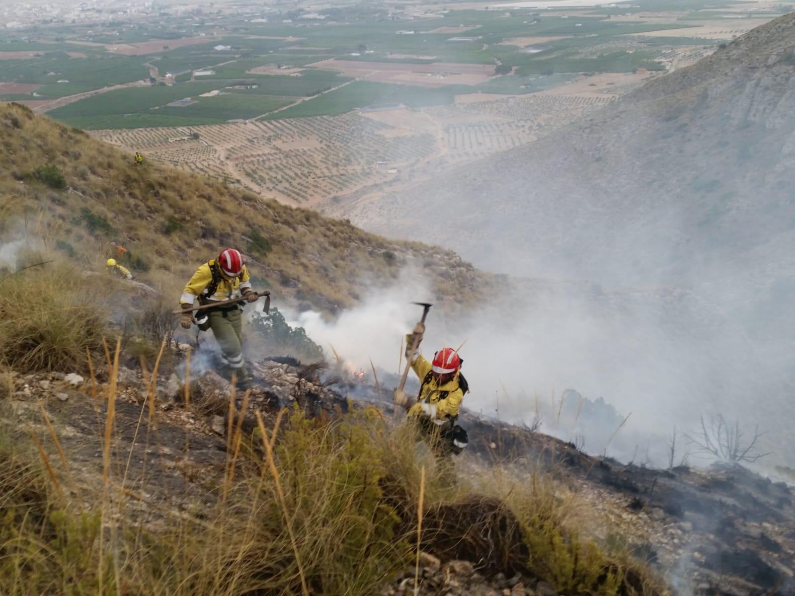 Incendio en Jumilla a principios de agosto. Imagen: 112