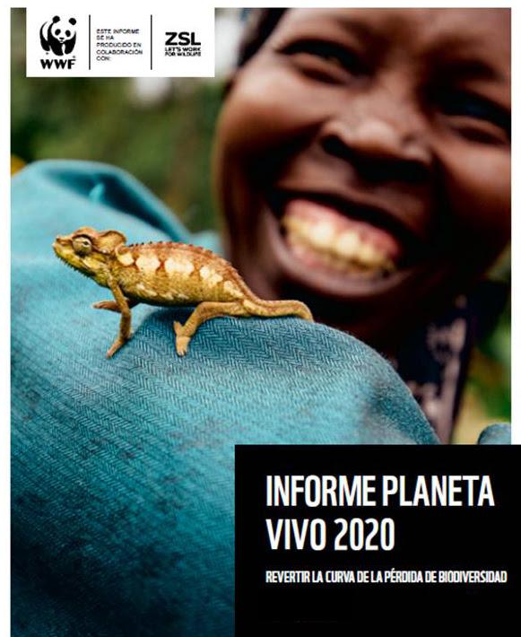 Portada del Informe Planeta Vivo 2020 de WWF