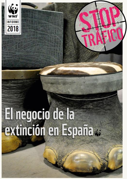 Portada del nuevo informe de WWF 'El negocio de la extinción en España'