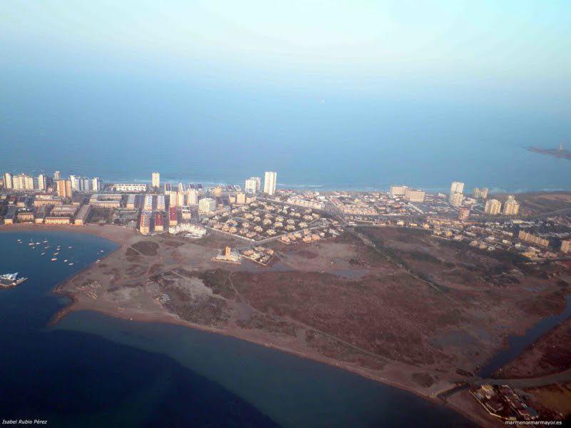Vista aérea de La Manga. Imagen: Pacto por el Mar Menor