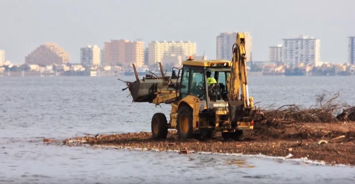 Imagen extraída del vídeo elaborado por SOS Mar Menor