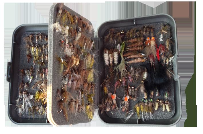 Colección de moscas hechas a mano por Juan Carlos Cardesín.
