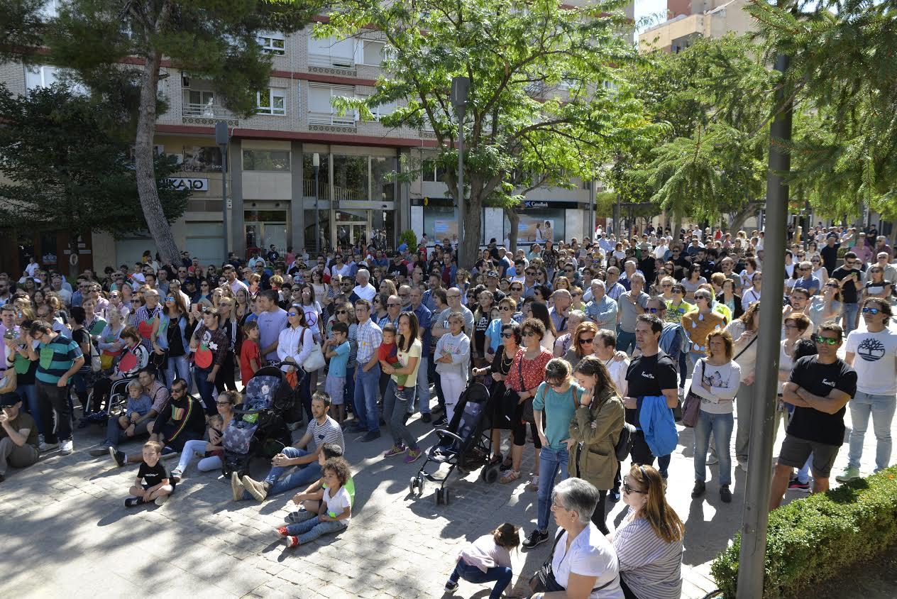 La concentración en Yecla. Imagen: Plataforma Ciudadana Salvemos el Arabí y Comarca