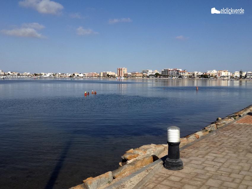 Imagen del Mar Menor desde el camino de Quintín.