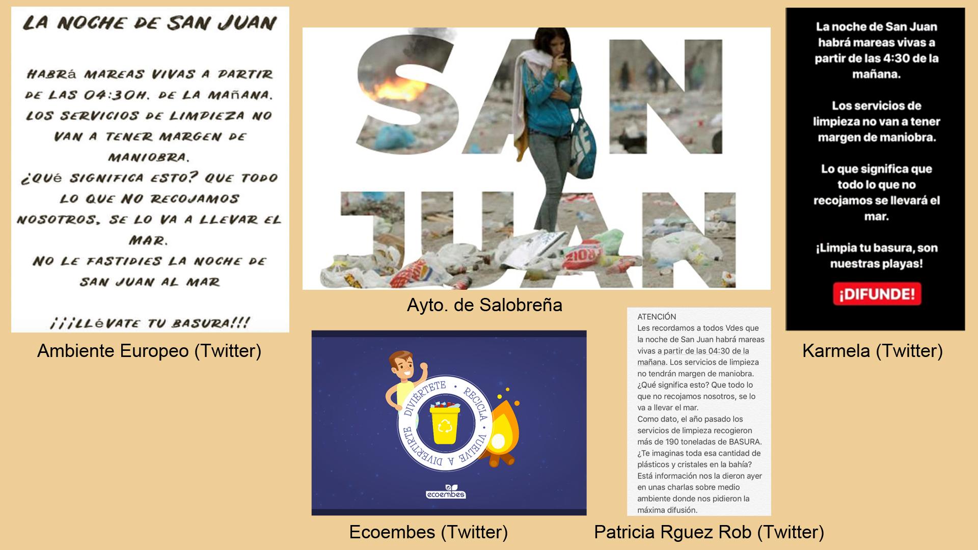 Varios carteles y mensajes animan a respetar las playas en la noche de San Juan