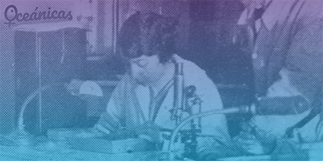 Jimena Quirós, en el IEO durante el curso impartido por M. Adrien Robert en 1925. Imagen extraída del trabajo de Pablo Lozano